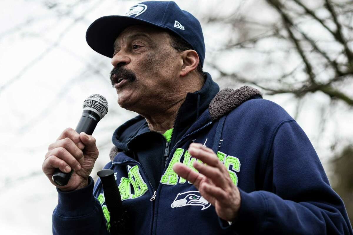 """""""The president embraces white supremacy and he is a racist,"""" activist Eddie Rye, Jr., announcing an Aug. 28 civil rights march on Washington -- this Washington -- and initiative drive to expand affirmative action."""