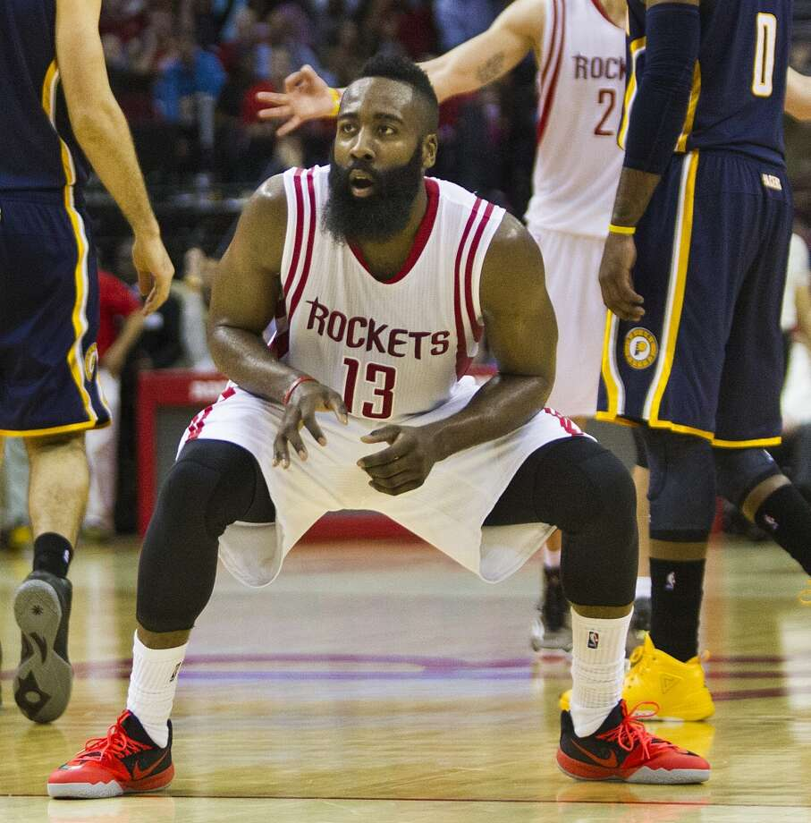 Jan. 19: Rockets 110, Pacers 98   James Harden scored a season-high 45 points to lead the Rockets to a home win over the Pacers in a Martin Luther King Day matinee at Toyota Center.   Record: 29-13 Photo: Marie D. De Jesus, Houston Chronicle