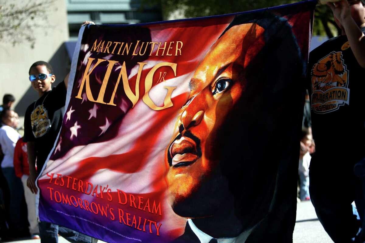 Houston's 2015 Original Martin Luther King Parade Monday, Jan. 19, 2015, in Houston, Texas.
