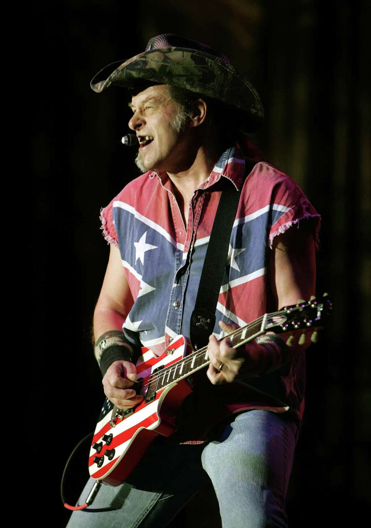 Ted Nugent brings his Sonic Baptizm tour to the Tobin Center on July 14.