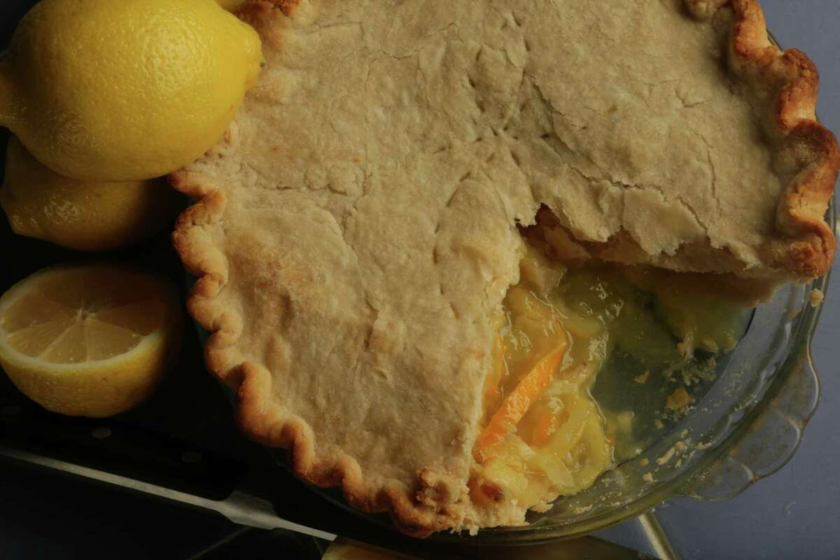 Shaker Lemon Pie: A pie with a filling made with whole lemons that have been sliced extremely thin and macerated with sugar. Region: Ohio and elsewhere in the Midwest