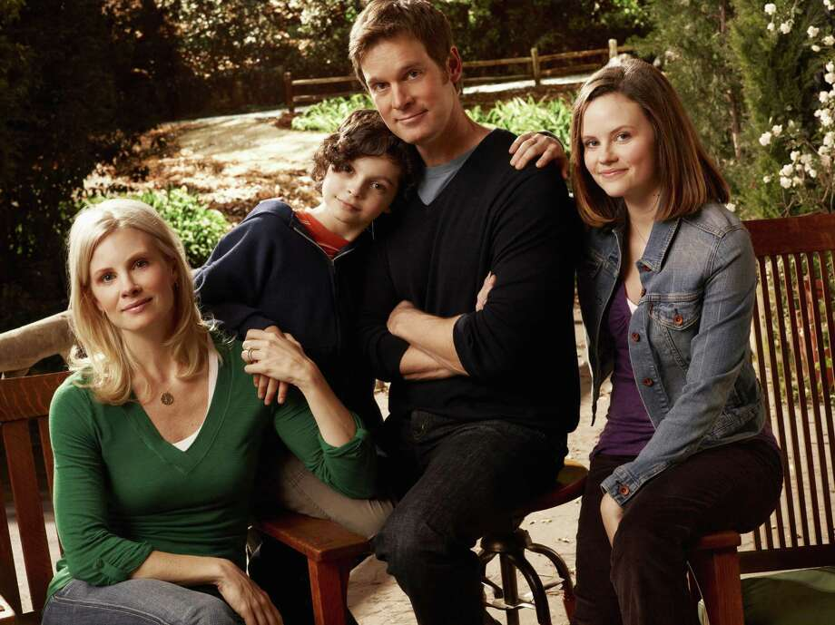 From an early episode: Adam Braverman (Peter Krause) and his family -- wife Kristina (Monica Potter), kids Max (Max Burkholder) and Haddie (Sarah Ramos). Photo: Art Streiber / © NBC Universal, Inc. -- FOR EDITORIAL USE ONLY -- DO NOT ARCHIVE -- NOT FOR RESALE