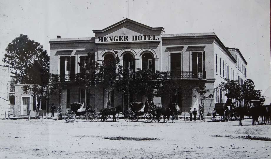 The Menger Hotel downtown San Antonio, circa 1860. Photo: Courtesy Photo / Menger Hotel / San Antonio Express News