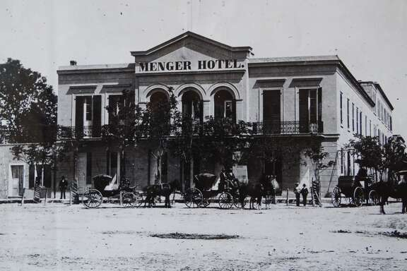 The Menger Hotel downtown San Antonio, circa 1860.