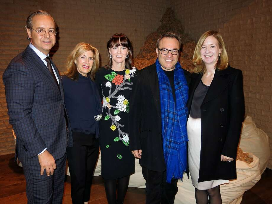 FOG Fair co-chairs (from left): Douglas Durkin, Cathy Topham, Stanlee Gatti and Katie Schwab Paige. Jan 2015. By Catherine Bigelow. Photo: Catherine Bigelow, Special To The Chronicle