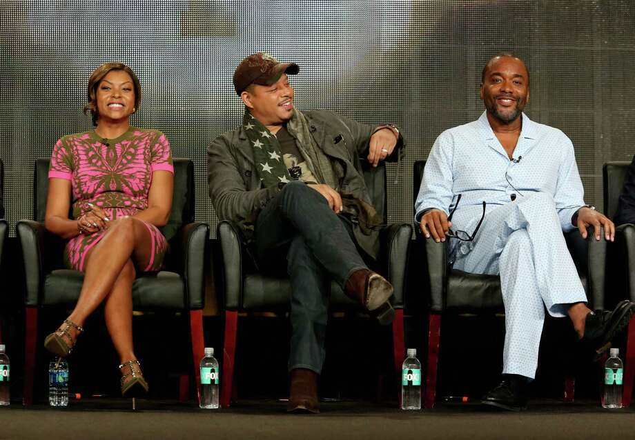 """Empire"" actress Taraji P. Henson (left), actor Terrence Howard and writer-executive producer Lee Daniels talk at the 2015 Winter TCA Tour. Photo: Frederick M. Brown / Frederick M. Brown / Getty Images / 2015 Getty Images"