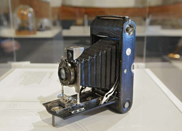 "A 1920 Kodak model A 3A camera is on display at the new exhibit titled ""New York's Bold Ideas: Inventions that Changed the Human Condition"" on the second floor of the Capitol on Tuesday, Jan. 20, 2015 in Albany, N.Y.  (Lori Van Buren / Times Union) Photo: Albany Times Union"