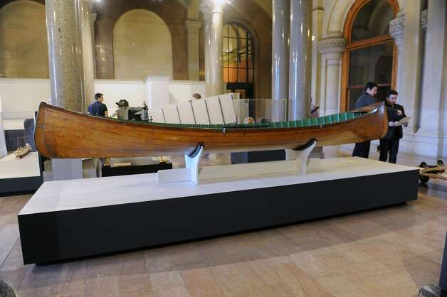 "An Adirondack guide boat is on display at the new exhibit titled ""New York's Bold Ideas: Inventions that Changed the Human Condition"" on the second floor of the Capitol on Tuesday, Jan. 20, 2015 in Albany, N.Y. (Lori Van Buren / Times Union) Photo: Albany Times Union"