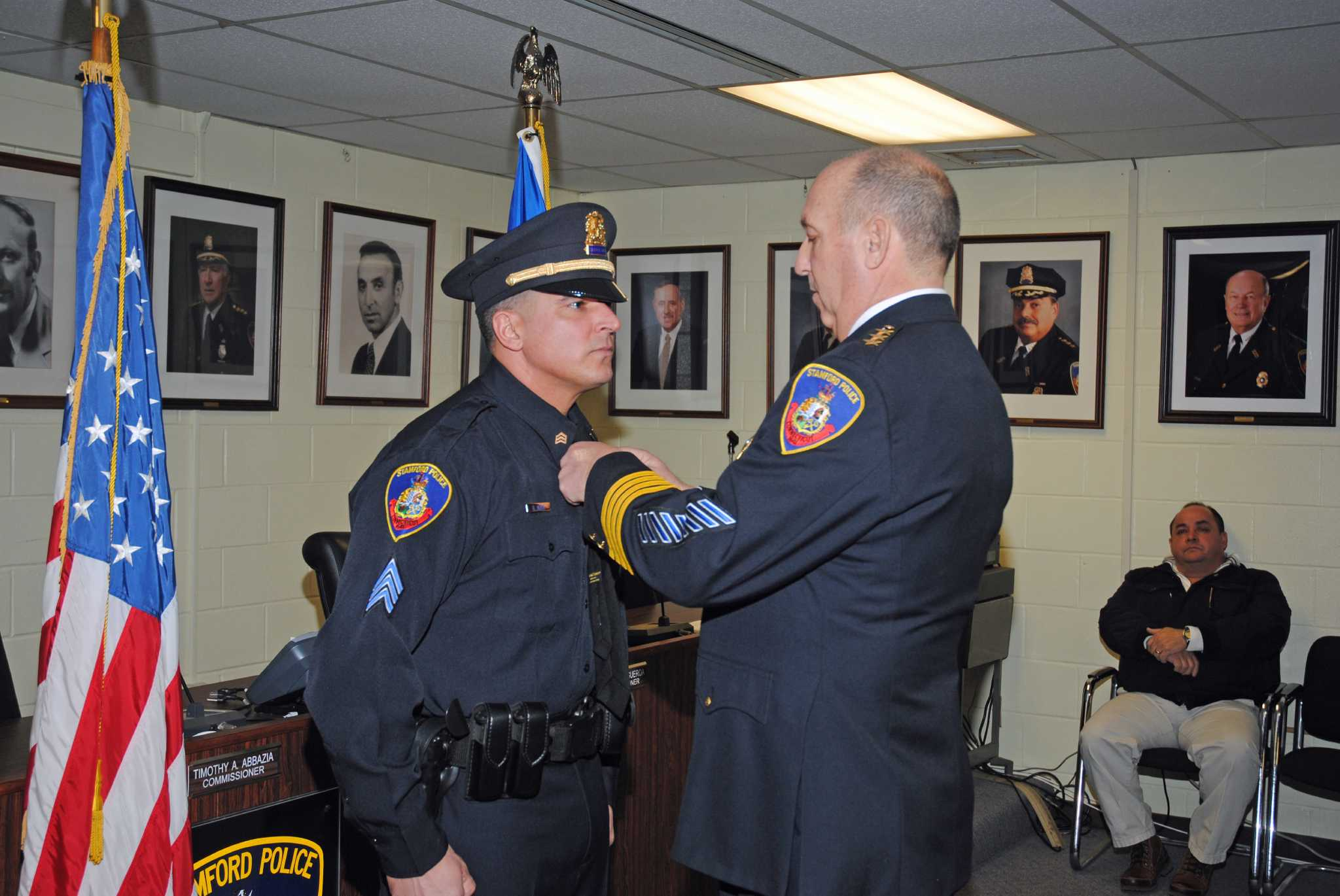 former corrections officer promoted in stamford