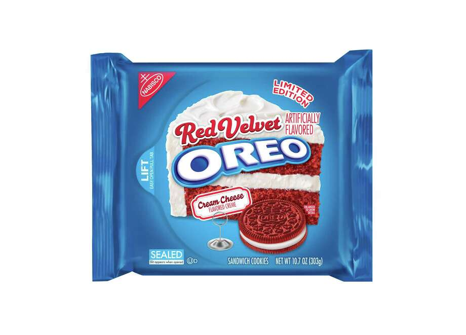 "Limited-edition Red Velvet Oreos are expected to hit store shelves in time for Valentine's Day. Photo: ""Mondelēz International"" / ONLINE_YES"