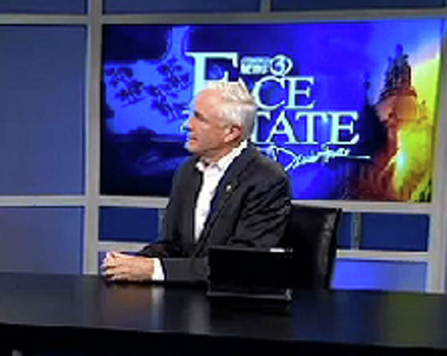 """I don't think a convicted felon should ever be allowed to run anywhere with a corruption conviction,"" Bridgeport Mayor Finch said on Channel 3's Face the State talk show, taped Thursday, when asked about speculation that Ex-Mayor-turned-felon Joseph Ganim will challenge him. Photo: Contributed Photo / Connecticut Post Contributed"