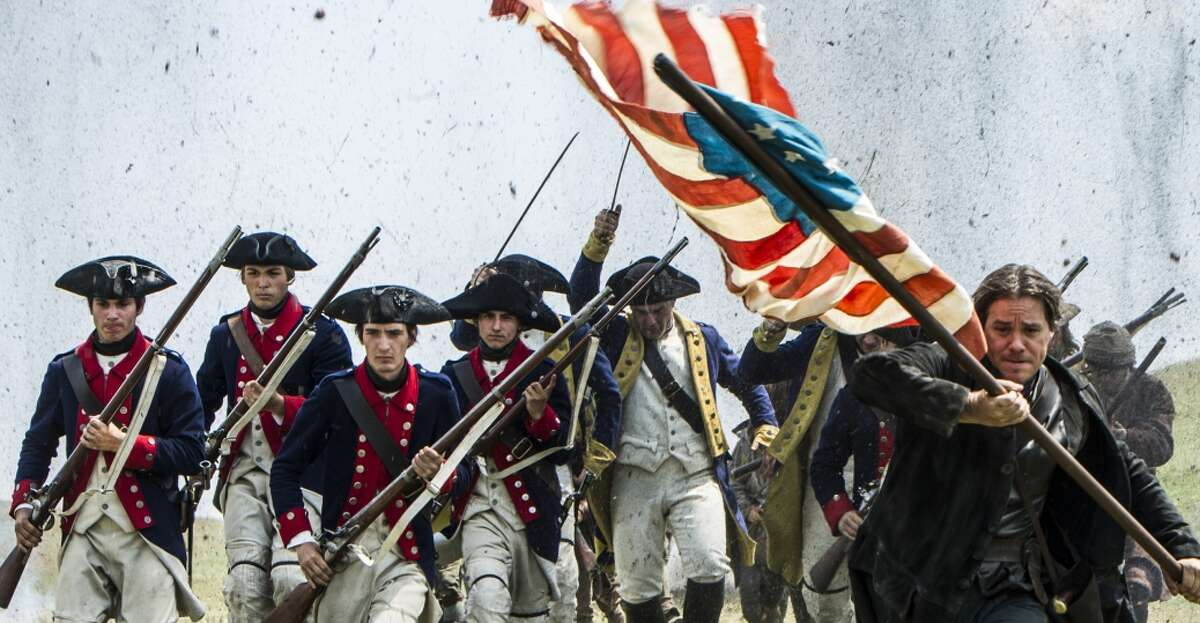 History Channel The Redcoats charge in the History Channel miniseries