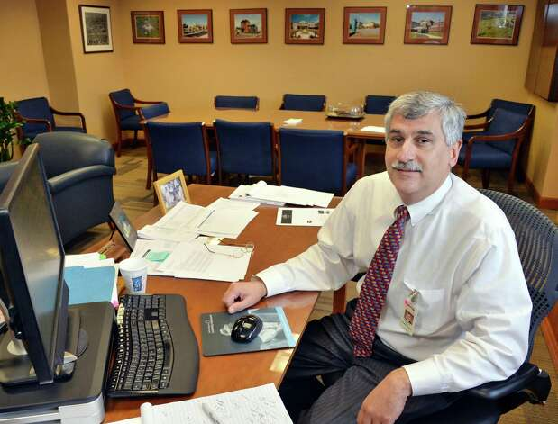 President and CEO of Saratoga Hospital, Angelo Calbone at his desk Friday Jan. 16, 2015, in Saratoga Springs, NY.   (John Carl D'Annibale / Times Union) Photo: John Carl D'Annibale / 00030219A