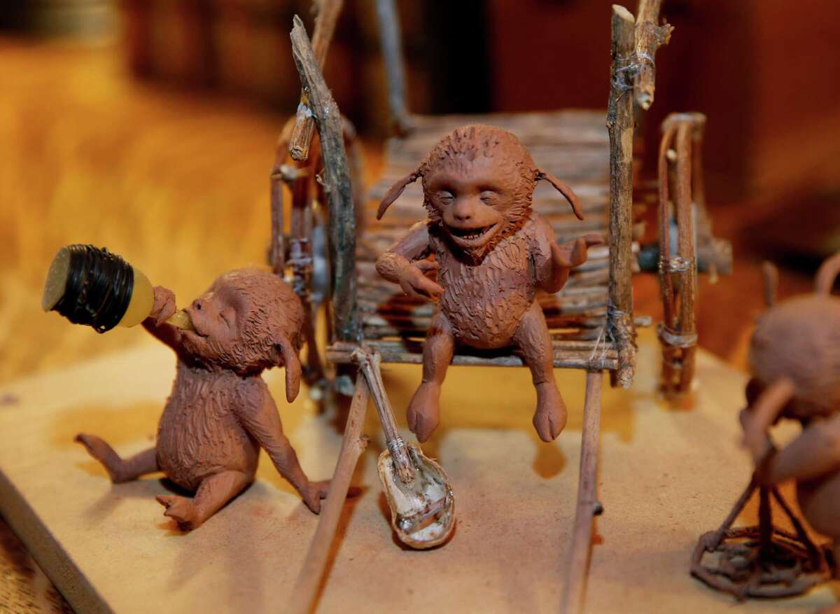 """Early model renditions of Portunies from """"Strange Magic."""""""