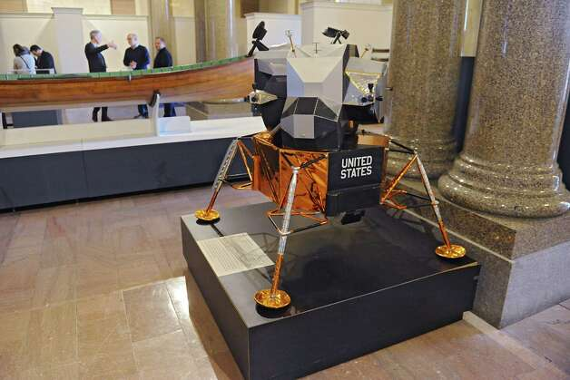 "Model of the Lunar Module built by Northrup Grumman in Long Island that landed on the moon is on display at the new exhibit titled ""New York's Bold Ideas: Inventions that Changed the Human Condition"" on the second floor of the Capitol on Tuesday, Jan. 20, 2015 in Albany, N.Y. (Lori Van Buren / Times Union) Photo: Lori Van Buren"