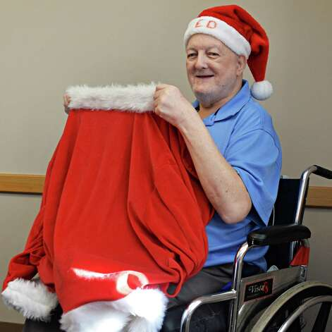 """Ed Hilton, the """"South End Santa,"""" who collected donations and delivered toys to needy kids in Albany for nearly 30 yrs, Friday, Jan. 16, 2015, during an interview at Hudson Park Rehab & Nursing Home in Albany, N.Y.  (John Carl D'Annibale / Times Union) Photo: John Carl D'Annibale / 00030227A"""