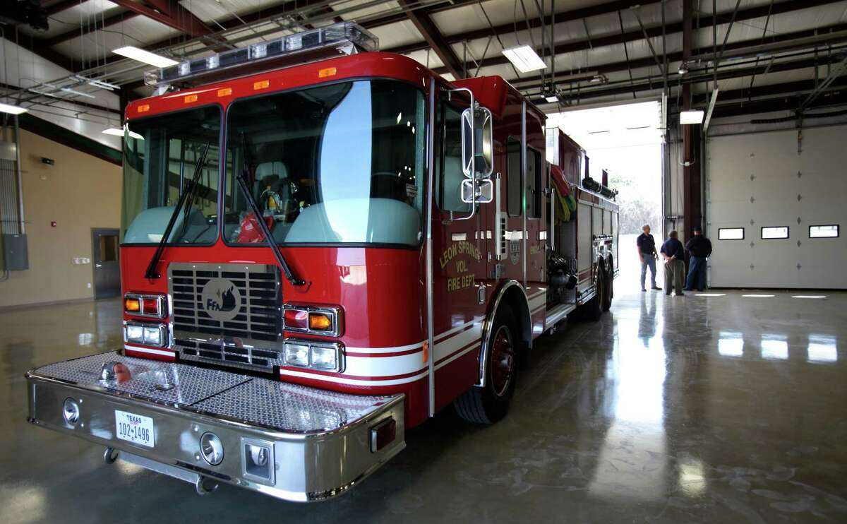 Multiple firefighting crews from the Bexar County Emergency Service District were called to battle a fire on the far Northwest Side, officials report. File photo of a Bexar County Emergency Service District fire engine.