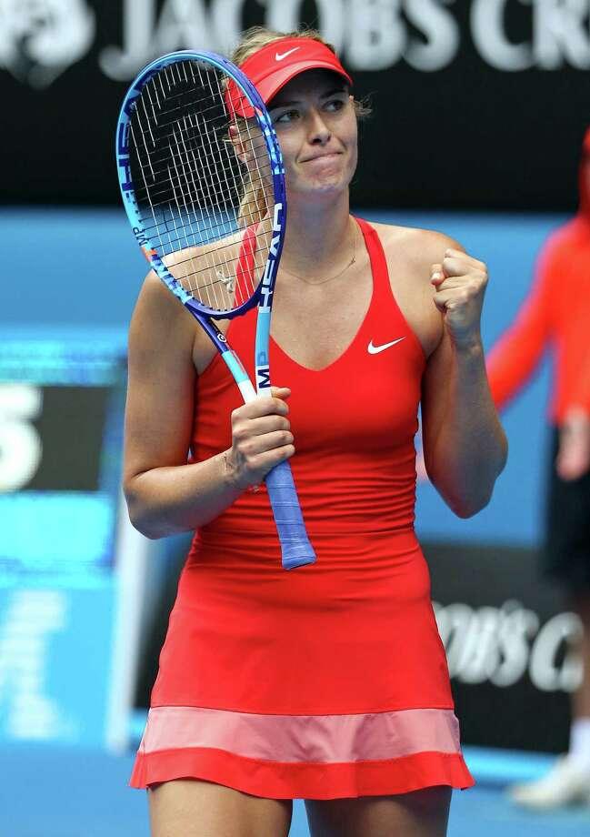 Second-seeded Maria Sharapova escaped a close call against Alexandra Panova. Photo: Rob Griffith / Associated Press / AP