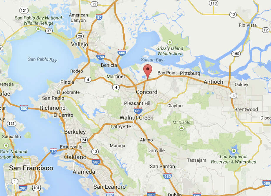 A man was shot while driving on Highway 4 in Concord, Calif. Photo: Google Maps