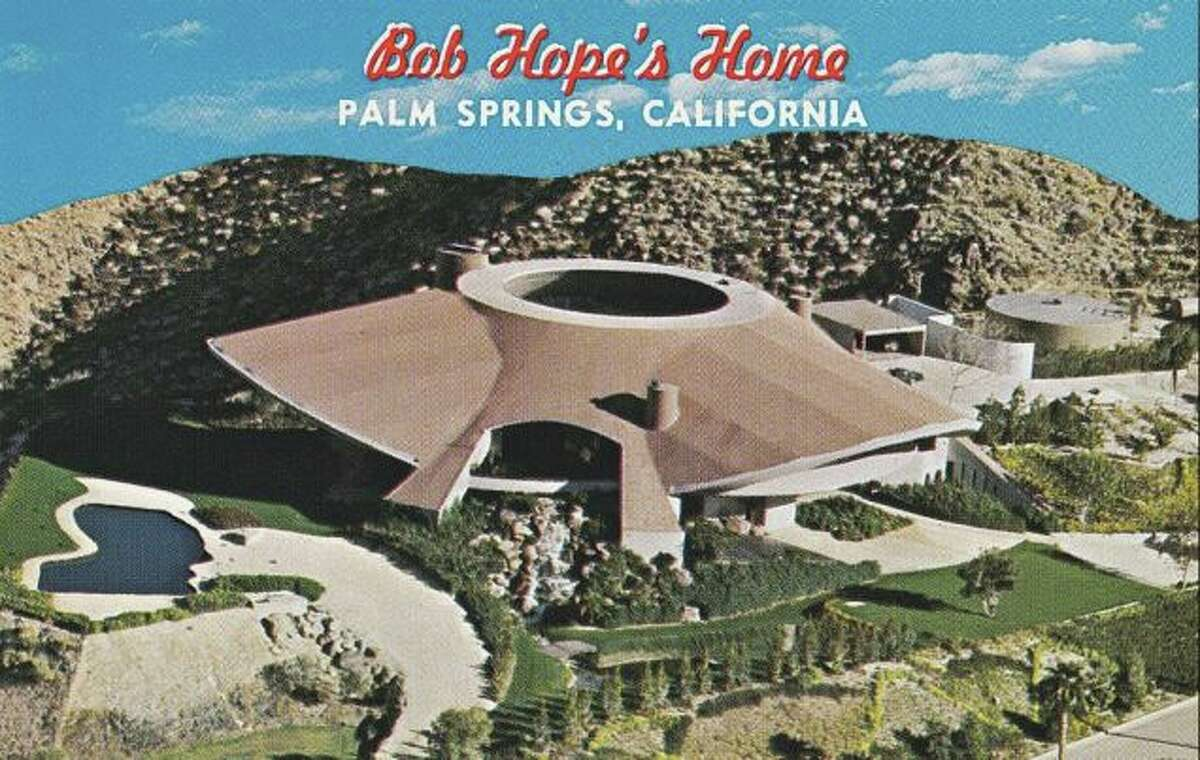 Bob Hope's Palm Springs house that looks like a flying saucer.