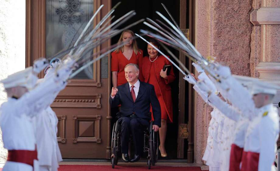 Texas Gov. Greg Abbott, shown here during his inauguration in 2015, was named Monday as one of the fittest governors in America by a fitness magazine. Photo: Eric Gay, Associated Press / AP