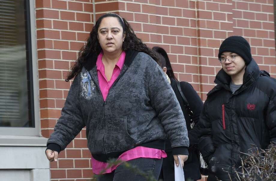 Brenda VanAlstyne arrives at Albany County Family Court for a hearing on Jan. 21, 2015. With her, an 18-year-old man who has lived with her since he was a boy. (Skip Dickstein/Times Union)