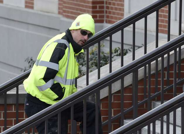 Jayson White arrives at Albany County Family Courthouse for a hearing on Jan. 21, 2015. (Skip Dickstein/Times Union)