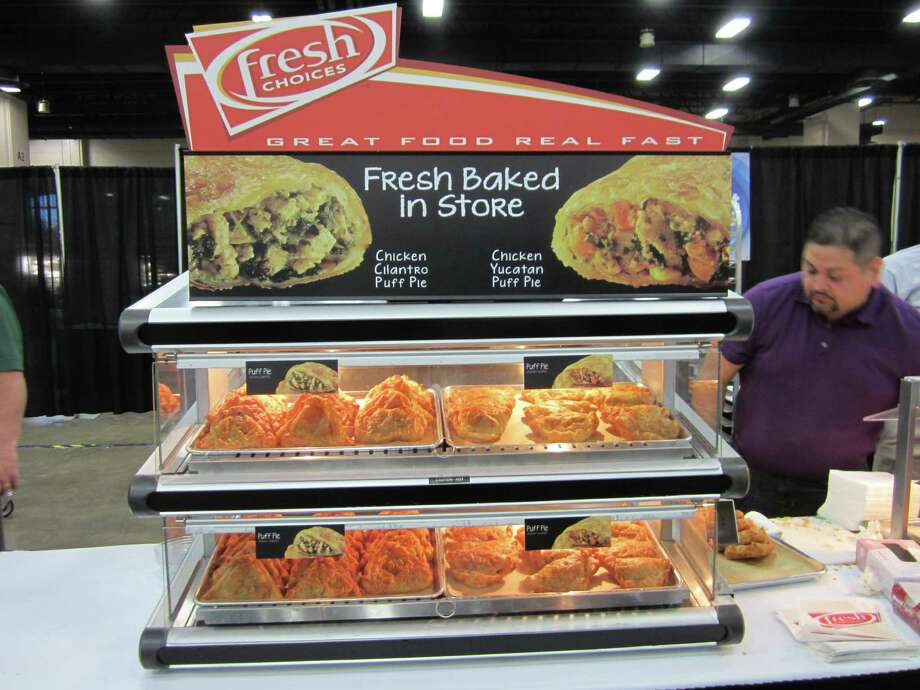 Chicken cilantro and chicken yucatan puff pie will join the list of own-brand Fresh Choices food items that CST Brands Inc. adds to its convenience store menus soon. Photo: Neal Morton