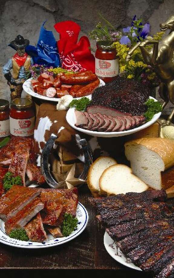 A selection of barbecue from The County Line. Photo: San Antonio Express-News