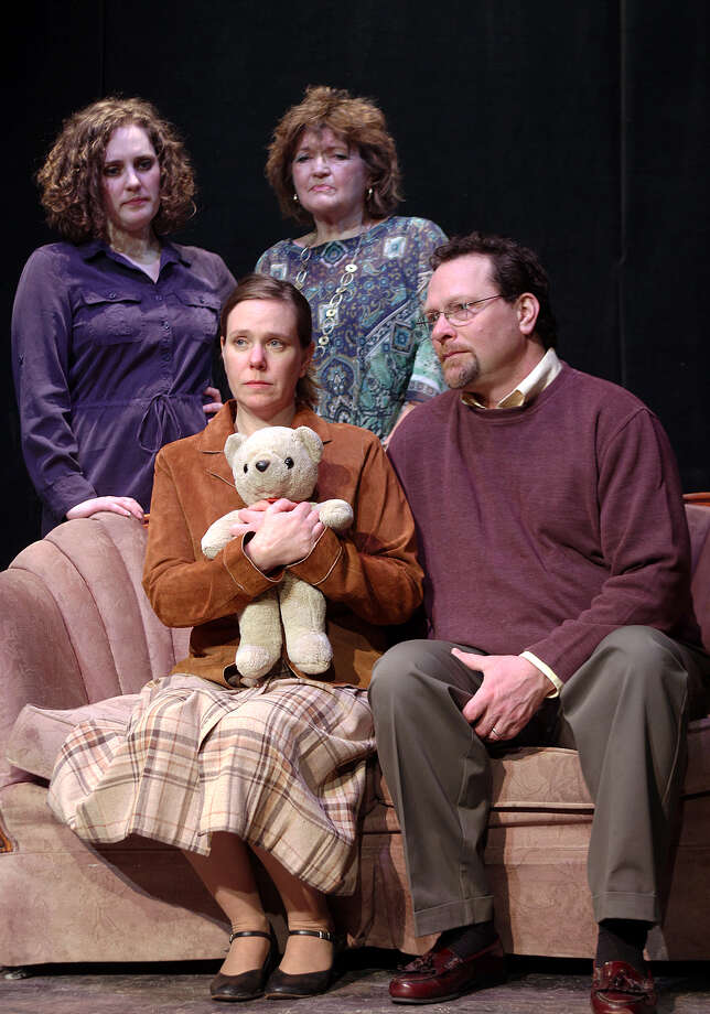 RABBIT HOLE #1 (l to r) Katharine Stephens, Amy M. Lane, Laural Hayes, Robin MacDuffie (Photo by Tom Killips)
