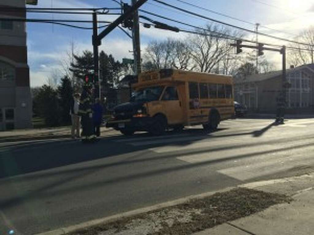 Children unhurt in Danbury school bus accident
