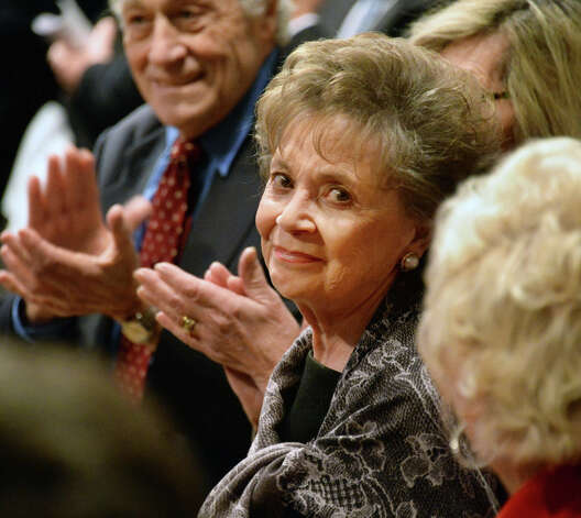 Gov. Andrew Cuomo's mother and former first lady Matilda Cuomo is applauded during her son's State of the State address and budget proposal Wednesday January 21, 2015, at the Empire State Plaza Convention Center in Albany, N.Y.   (John Carl D'Annibale / Times Union) Photo: John Carl D'Annibale, Albany Times Union / 00030240B