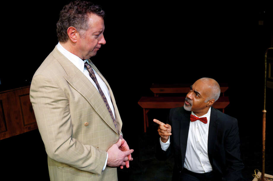 "Mike Boland plays Boolie and Lorenzo Scott is Hoke in the MTC production of Alfred Uhry's Pulitzer Prize-winning ""Driving Miss Daisy"" opening in Norwalk Jan. 30. Photo: Contributed Photo / Connecticut Post Contributed"