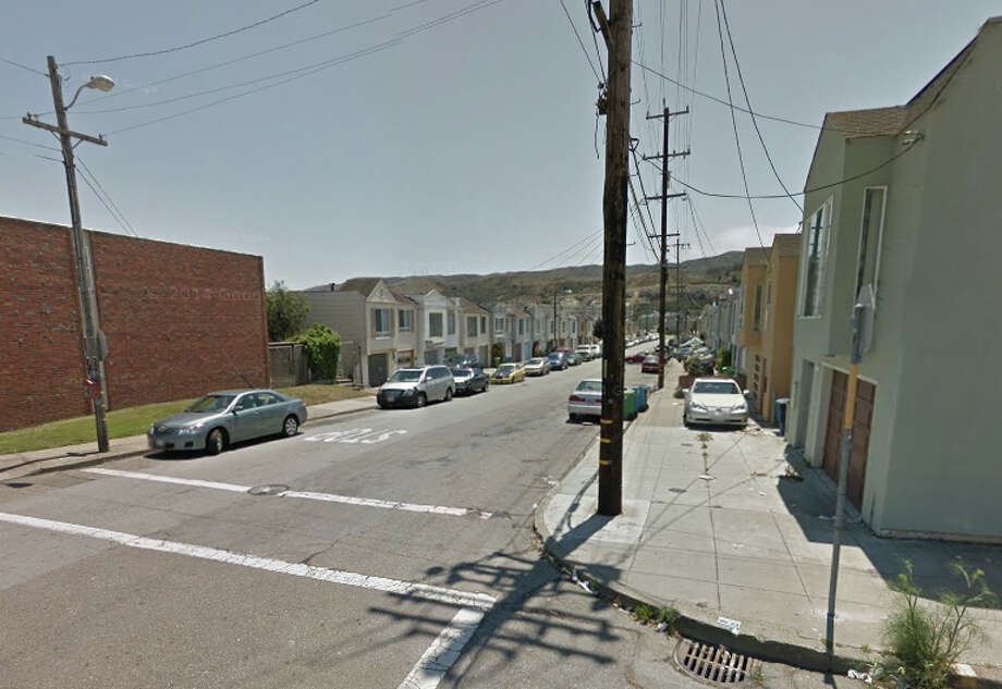 A man was shot at Sunnydale Ave. and Sawyer Streets on Tuesday evening. Photo: Google Maps