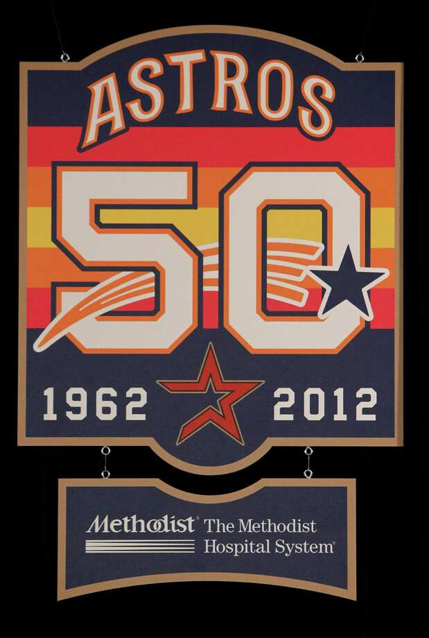 In 2012, the Astros celebrated their 50th anniversary by wearing throw-back jerseys on Flashback Fridays that represented different eras in franchise history. Photo: Mayra Beltran, Houston Chronicle / © 2011 Houston Chronicle