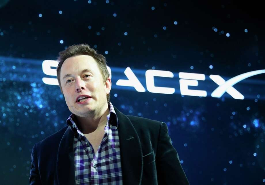 (FILES)This May 29, 2014 file photo shows Elon Musk as he unveils SpaceX's new seven-seat Dragon V2 spacecraft, in Hawthorne, California. The private space exploration firm SpaceX said January 20, 2015 it had secured a $1 billion investment that could help founder Elon Musk's plan to build a satellite Internet network. The latest round of funding comes from Google and the financial firm Fidelity, which will own some 10 percent of the company. The statement offered no details on plans for the funds, but Musk has said he wants to build a network of satellites to deliver the Internet around the globe. AFP PHOTO / ROBYN BECK / FILESROBYN BECK/AFP/Getty Images Photo: ROBYN BECK / Photo Illustration By Christopher T. Fong / The Chronicle / AFP