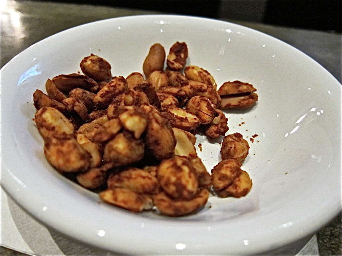 Spiced peanuts, the bar snack at Hugo's.