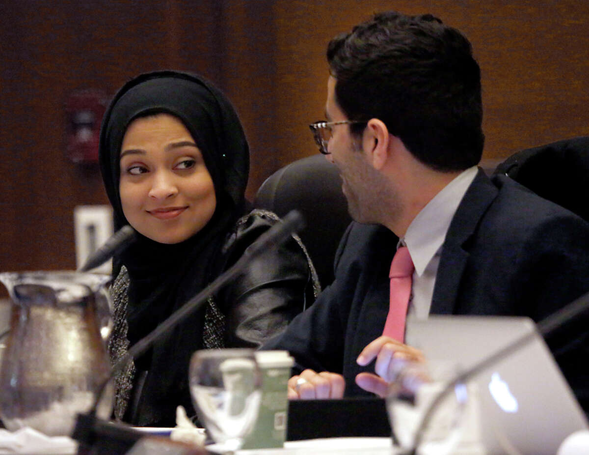 Student regents Sadia Saifuddin (left) and Avi Oved represent both sides of the incendiary issue.