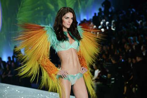 65eb383d7504 Model Hilary Rhoda walks the runway during the 2013 Victoria's Secret  Fashion Show at the 69th