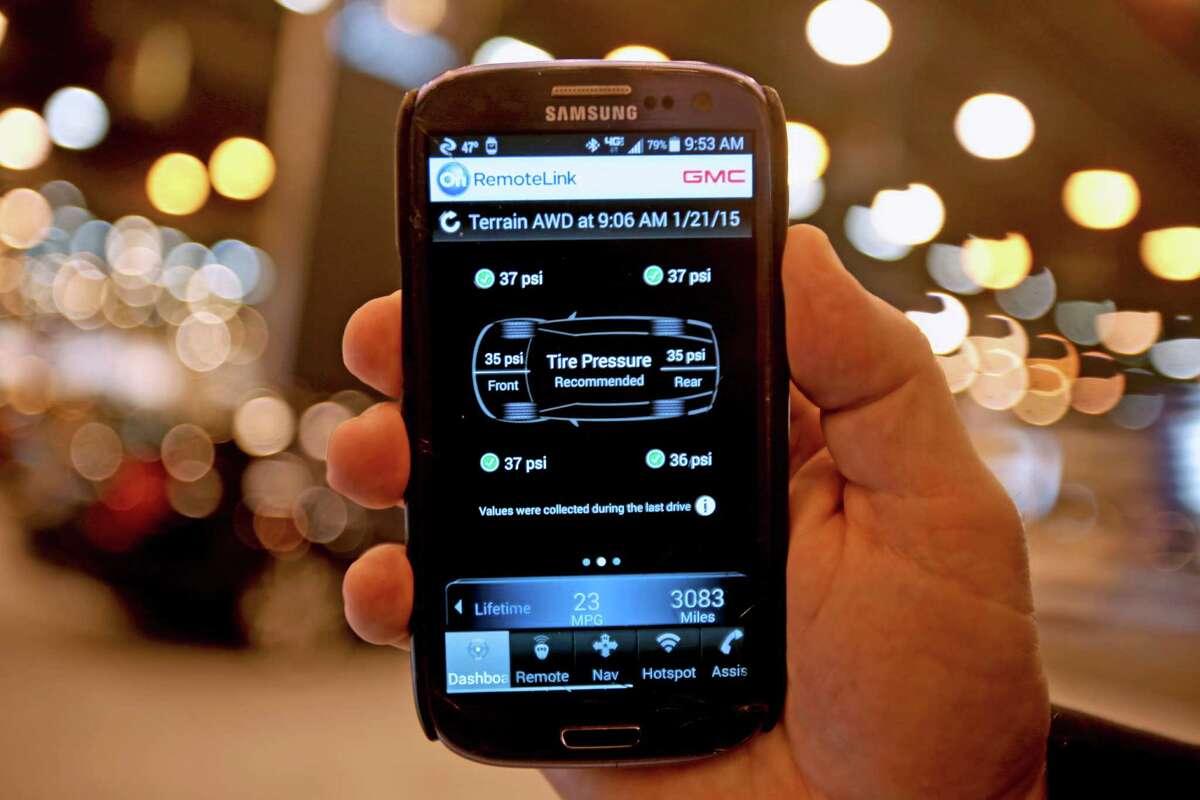 GM brands offer remote locking through a smartphone app.