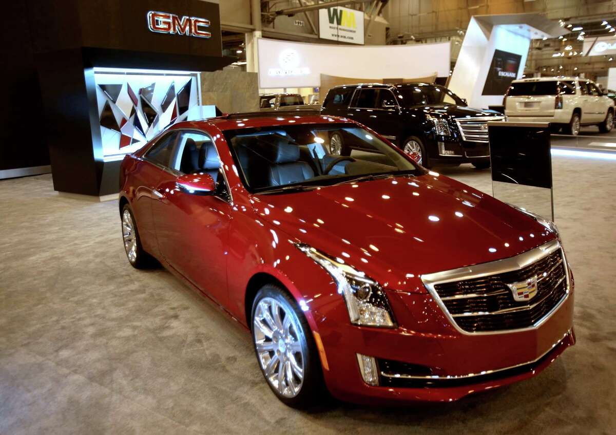 On 4GLTE wireless technology system is on display in a 2015 Cadillac ATS coupe at the 2015 Houston Auto Show at NRG Center. The 4GLTE makes it possible to check tire pressure, fuel, lock, unlock car and other features.