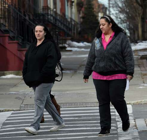 Christine VanAlstyne White, left and Brenda VanAlstyne arrive at the Albany County Family Court building for a hearing  Wednesday morning, Jan. 21, 2015, in Albany, N.Y. (Skip Dickstein/Times Union) Photo: SKIP DICKSTEIN / 00030293A