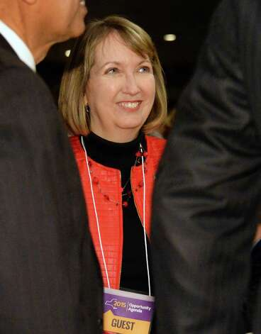 Rensselaer County Executive Kathy Jimino arrives for Gov. Cuomo's State of the State address and budget proposal at the Empire State Plaza Convention Center Wednesday January 21, 2015 in Albany, NY.   (John Carl D'Annibale / Times Union) Photo: John Carl D'Annibale / 00030240B