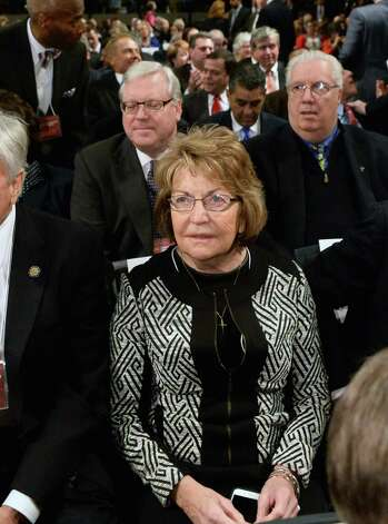 Sen. Betty Little attends Gov. Cuomo's State of the State address and budget proposal Wednesday Jan. 21, 2015, at the Empire State Plaza Convention Center in Albany, N.Y. (John Carl D'Annibale / Times Union) Photo: John Carl D'Annibale / 00030240B