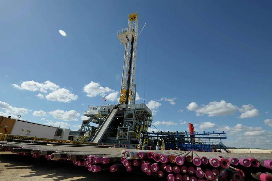 BHP Billiton is trimming the number of its U.S. drilling rigs, such as this one in the Eagle Ford Shale.