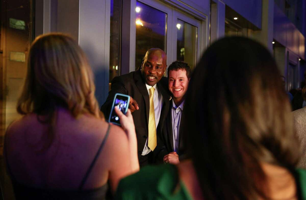 Former Sonics player Gary Payton poses for a photo during the annual Sports Star of the Year Awards at Benaroya Hall on Wednesday.