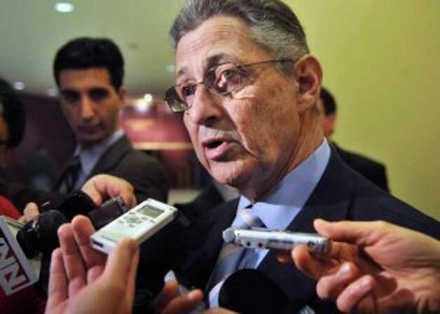 Assembly Speaker Sheldon Silver speaks to reporters in this 2011 photograph. (John Carl D'Annibale / Times Union)