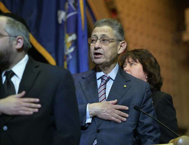 Assembly Speaker Shelly Silver recites the Pledge of Allegiance during the opening of the 2014 session of the New York State Assembly Wednesday afternoon Jan. 8, 2014, at the Capitol in Albany, N.Y. (Skip Dickstein / Times Union) ORG XMIT: MER2014010815132997 Photo: SKIP DICKSTEIN / 0025206A