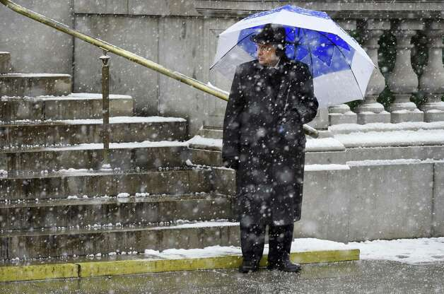 Assembly Speaker Shelly Silver stands quietly outside the church and waits for Governor Andrew Cuomo to arrive for the funeral of former Governor Mario M. Cuomo at St. Ignatius Loyola Church Tuesday morning Jan. 6, 2015 in New York City, N.Y.       (Skip Dickstein/Times Union) ORG XMIT: MER2015010612172870 Photo: SKIP DICKSTEIN / 00030083A