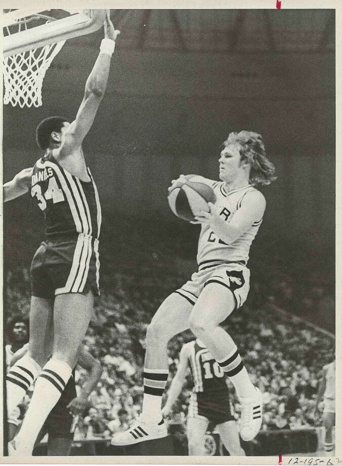"""The genesis of the San Antonio Spurs dates back nearly 47-years-ago to this day when the Silver and Black played their first American Basketball Association game in the Alamo City at what would one day become known as """"The Nosiest Arena in the NBA."""" Photo: File"""